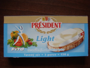Tavený sýr Président light