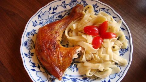 Kuře s nudlemi