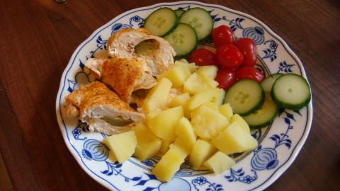 Plněné kuřecí roládky