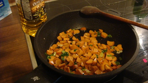 Zapečené těstoviny s máslovou dýní