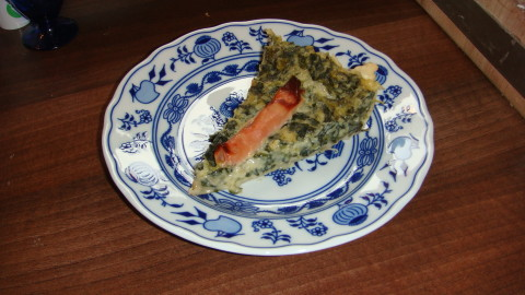 Slaný koláč - špenátovo sýrový