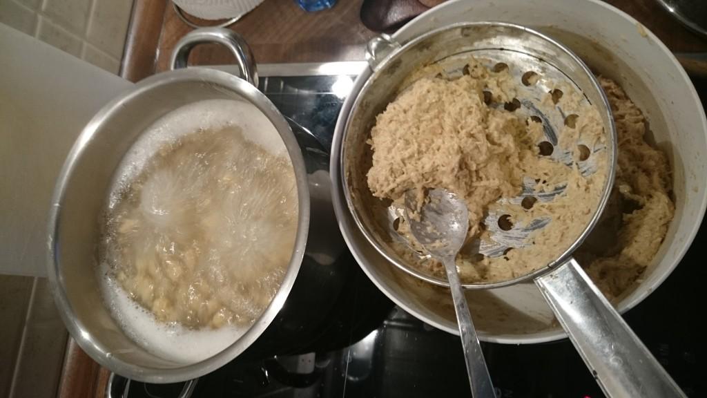 Celozrnné halušky s cottage sýrem