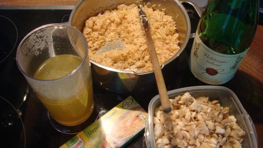 Krémové rizoto s Hlívou ústřičnou