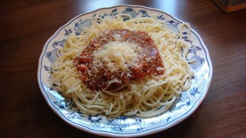 Špagety s fitness omáčkou