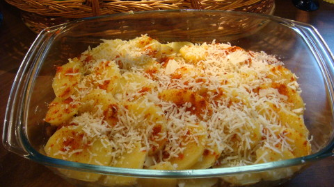 Zapečené brambory s kapustou