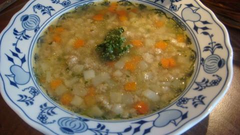 Falešná slepičí polévka - celozrnná